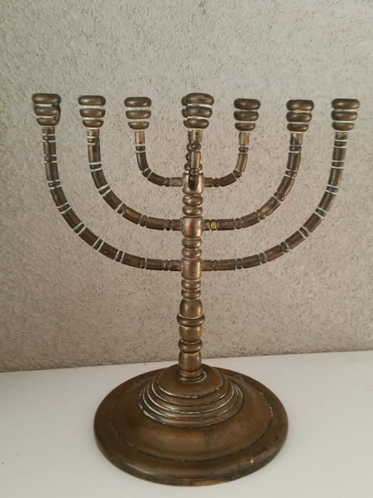 7 poor Jewish candlestick - Copper