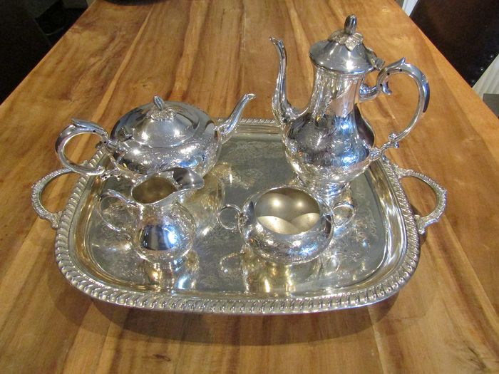 Coffee and tea service (5) - Silver plated