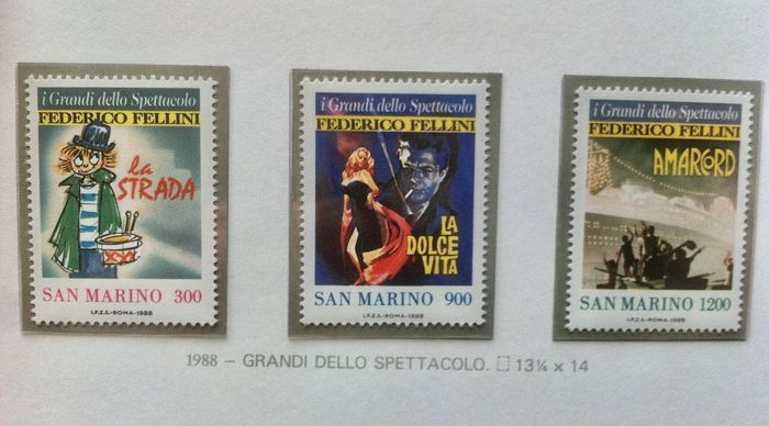 San Marino 1978/1994 - Complete collection on Marini album sheets of stamps of the period in sets and single pieces