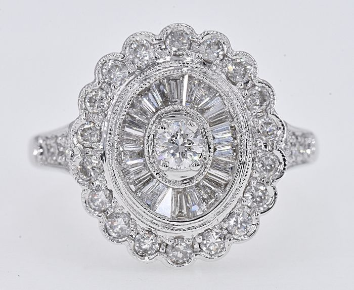 White gold - Ring - 1.33 ct Diamond