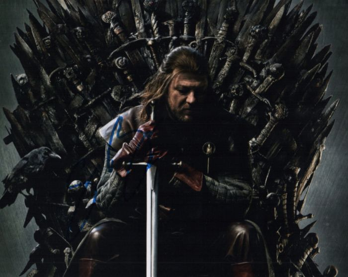 Game of Thrones - Sean Bean (Ned Stark) signed photo with Coa