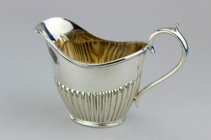 Antique silver plated milk jug by Joseph Rodgers and Sons