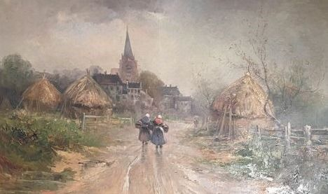 Fonz Van ...(à déchiffrer) ?(19/20th century) - Village flamand