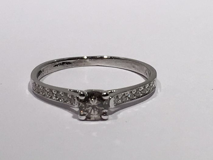 14 karaat Goud - Ring - 0.38 ct Diamant - Diamant