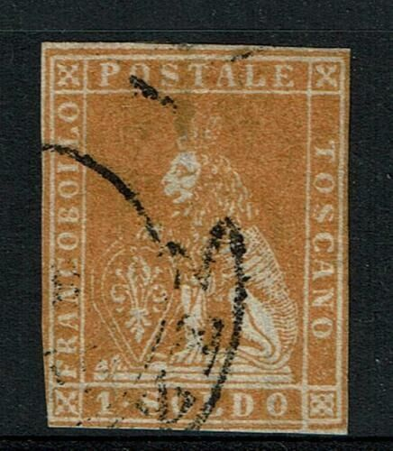 Italië Oude Staten 1857 - Tuscany 1 Soldo cancelled - Sassone N. 11
