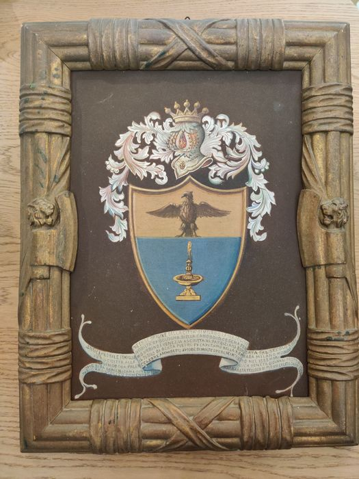 Coat of Arms - Wood - Late 19th century