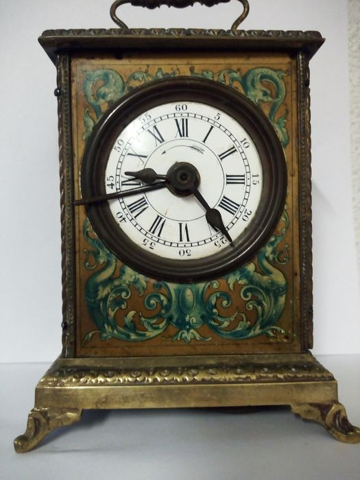 Carriage clock - Bronze (gilt/silvered/patinated/cold painted) - Second half 19th century
