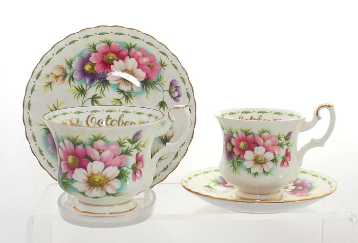 Royal Albert - Tea and coffee duos - Flower of the Month - October (4) - Porcelain