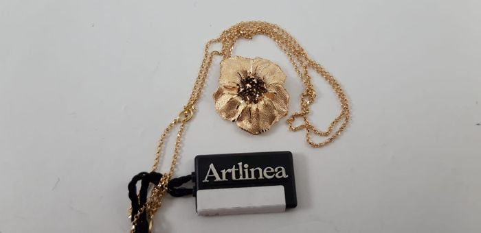 Artlinea - 18 kt. Yellow gold - Necklace with pendant