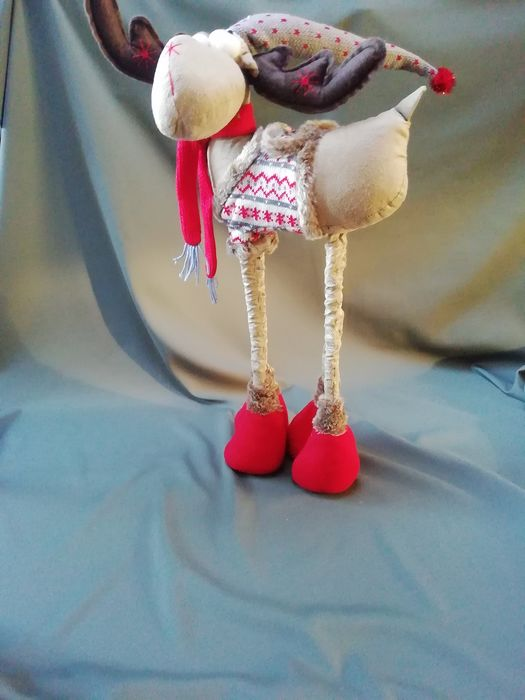 large lapland moose adjustable in height up to 65 cm - Textile
