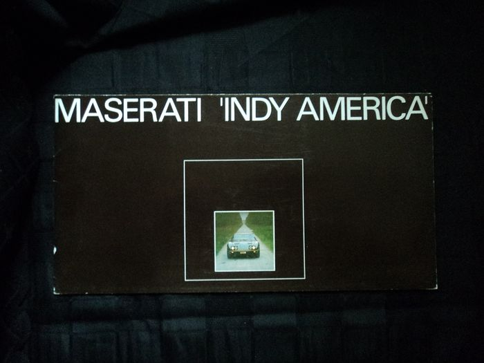 Brochures / catalogues - Maserati - Indy America - 1971