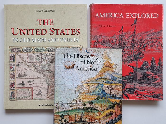 U.S., Noord Amerika ; Divers - The United States in old maps and prints, The Discovery of North America en America Explored - 1500 -  1900