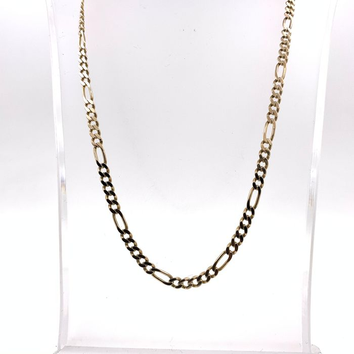 8 kt. Yellow gold - Necklace, Figaro