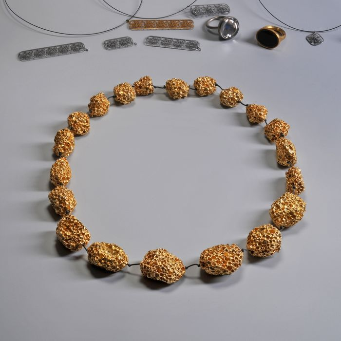 Chris Kabel - CHP Jewelry Collection - Gijs Bakker Projects - Necklace - Golden Nuggets