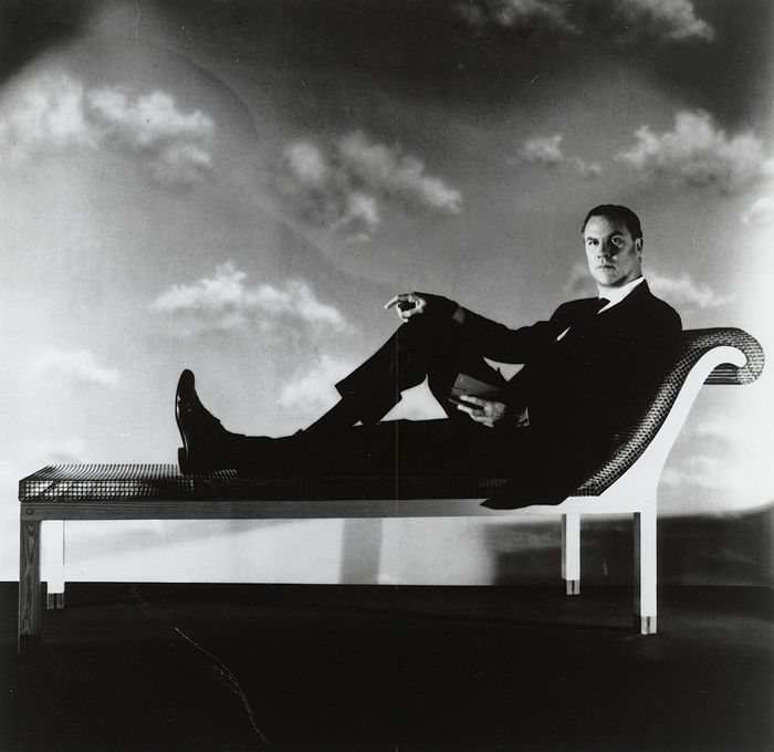 Horst P. Horst (1906-1999)/Contemporary Arts Museum, Houston - Robert Wilson Seated on His Parzival Sofa, 1989