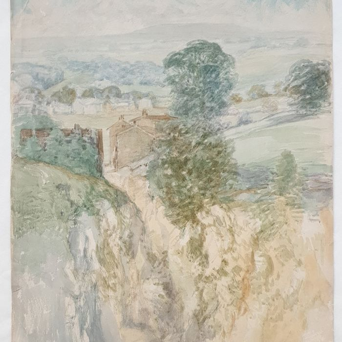 Stanley Hinsley (19th & early 20th century) - two English landscapes Summer and Winter