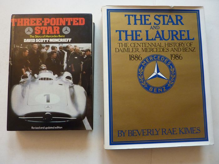 Boeken - Mercedes-Benz - 2 Books - The Star and The Laurel and Three Pointed Star - 1979-1986