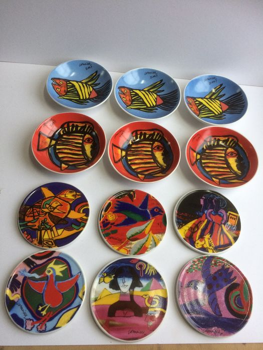 Corneille - 6 bowls and 6 coasters design by Corneille (12)