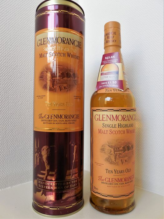 Glenmorangie 10 years old Metal tin edition - Original bottling - 70cl