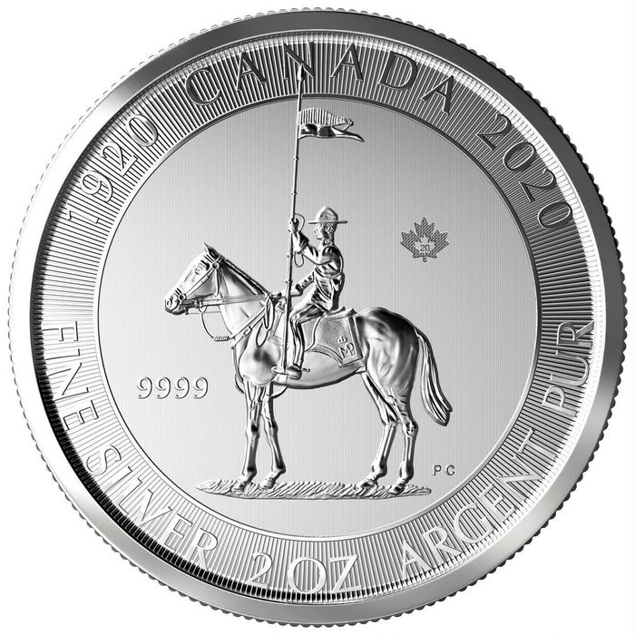 "Canada - 10 Dollar 2020 Royal Canadian Mint "" 100 Jahre Mounty / Mounted Police - 2 Oz - Zilver"