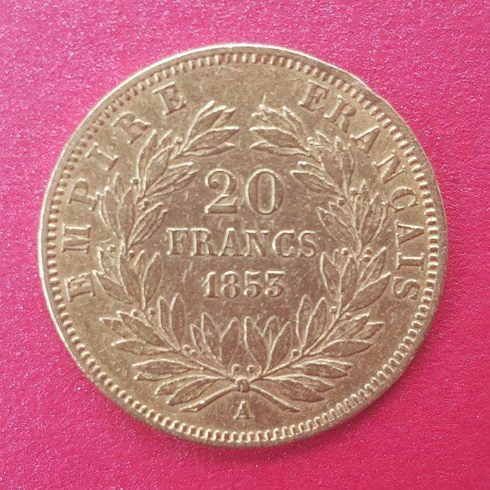 20 Francs 1853-A Napoléon III - Or