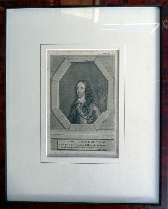 WILLEM II, Count of Nassau - framed engraving - between the 18th and 20th centuries