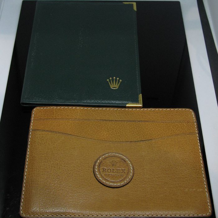 Rolex - Vintage Green and Brown Leather Card holder  - 68.08.55 and 050.05.34 - Unisex - 1960-1969