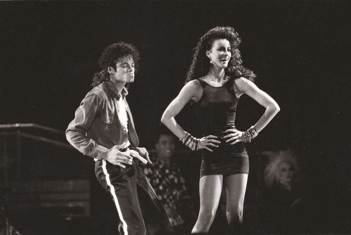 Kevin Mazur/L.F.I. - Michael Jackson and Tatiana Thumbtzen, 1988, lot of (2) photos
