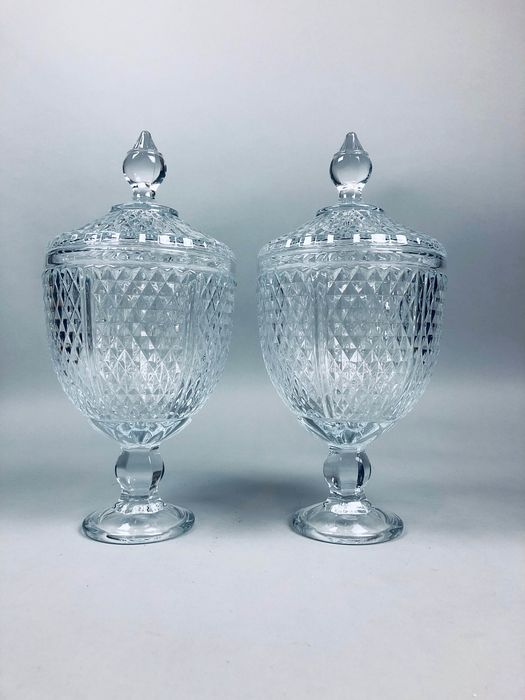 Large Pair Ginger jar with lid (2) - Regency Style