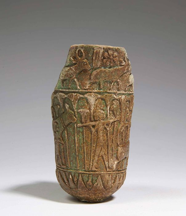 Ancient Egyptian Faience Fragment of a Lotiform Cup