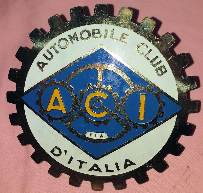 Emblem / mascot - Grille Badge - ACI - AUTOMOBILE CLUB D'ITALIA - 1990