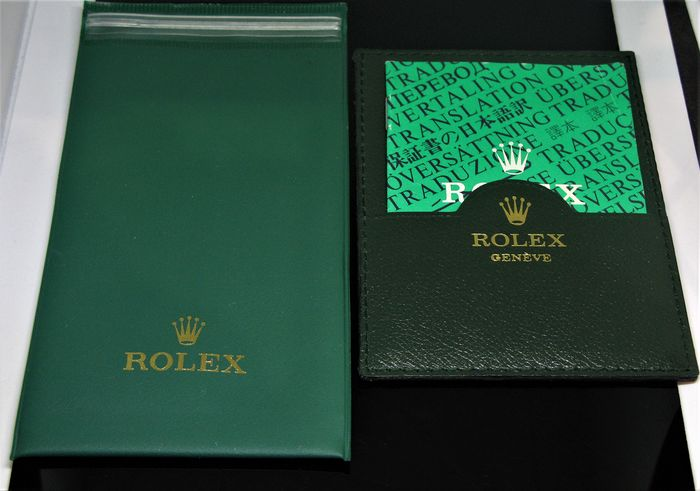 Rolex - Watchpouch - Green Card holder Translation booklet C.O.S.C.  -  565.00.300.1.94 - Unisex - 1970-1979