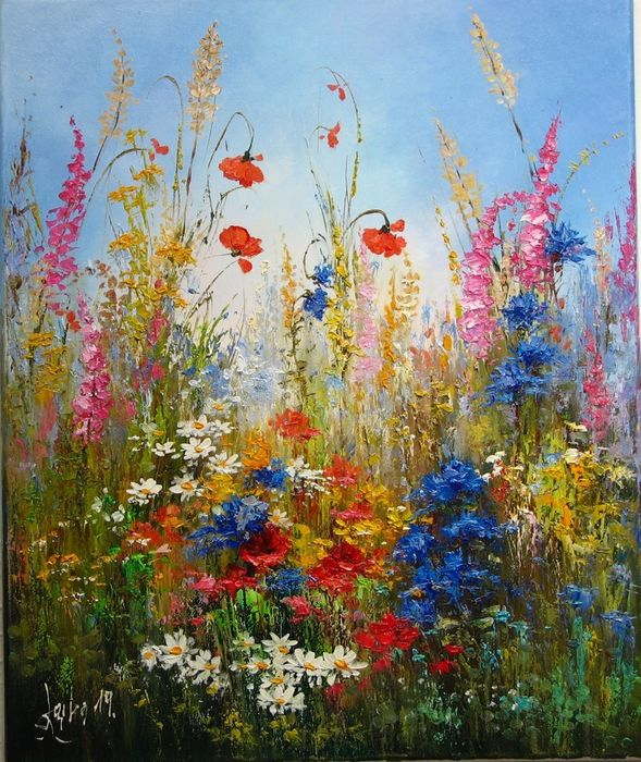 Margarita  Lacky -     Meadow with cornflowers