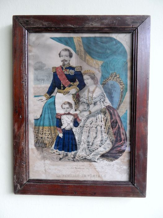 La Famille Impérial - framed engraving - around 1860