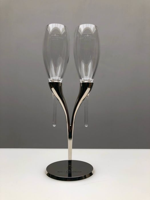 Philippe di Méo - Reso Design - Glass holder with two flutes