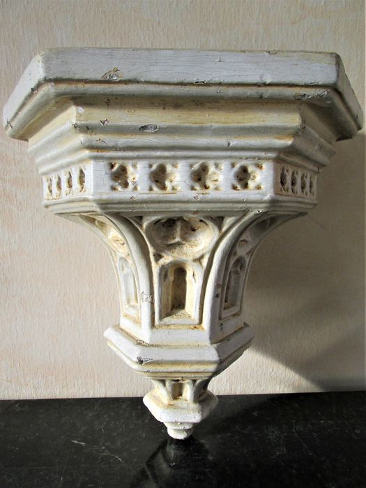 Church console - Gothic Style - Terracotta