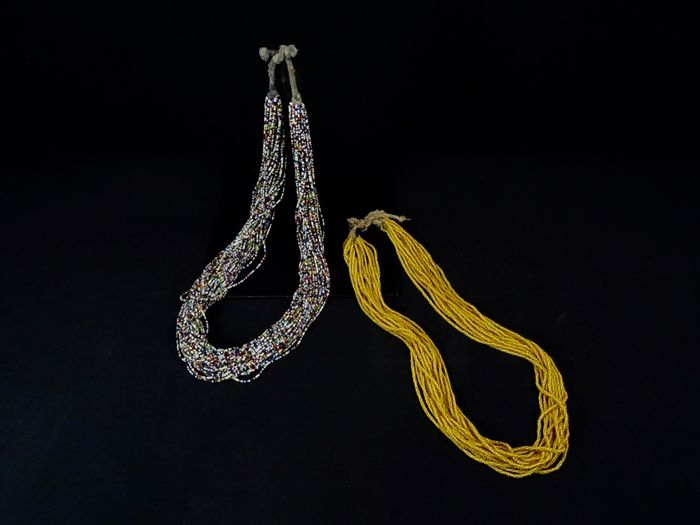 Necklace (2) - Glass beads - Tamba - Baoulé - Ivory Coast