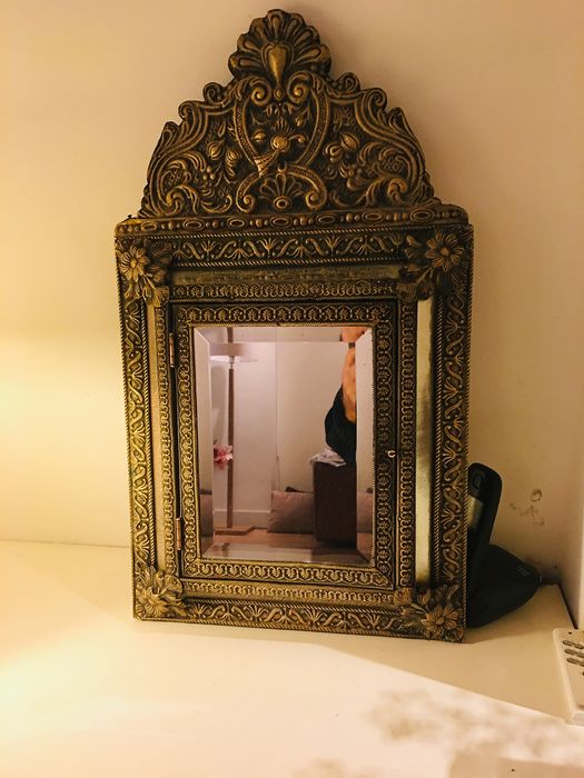 mirror cabinet, brush latin copper latin (1) - Baroque - copper, wood and mirror