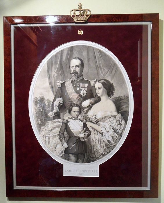 Famille Impérial - framed lithograph - 1861