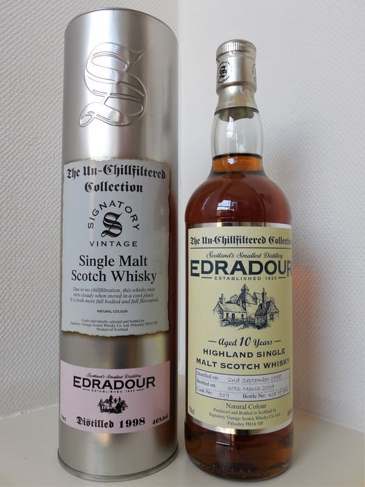 Edradour 1998 10 years old The Un-Chillfiltered Collection. - Signatory Vintage - b. 2009 - 70cl