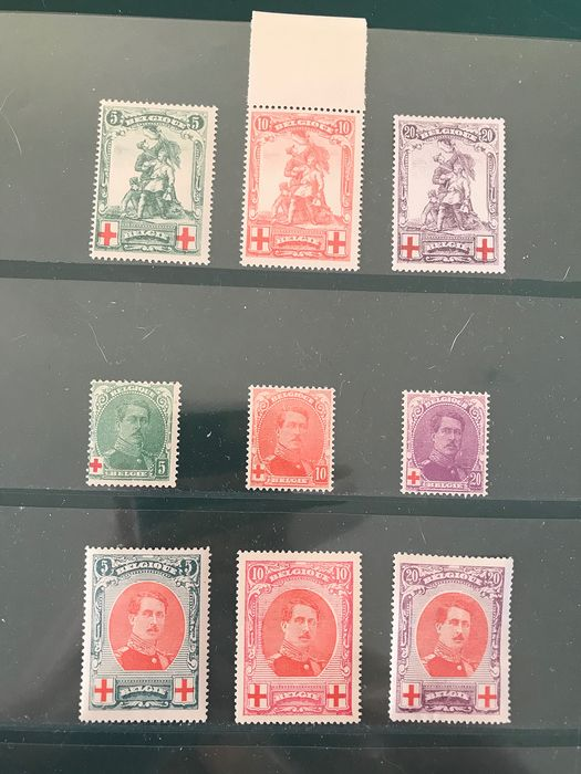 Belgium 1914/1915 - Two consecutive years - OBP / COB 126/134