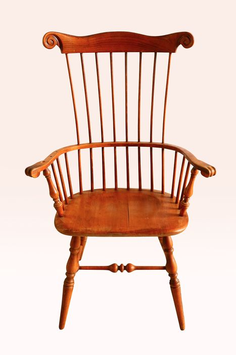 Windsor chair with high back - Victorian - Oak - Late 19th century