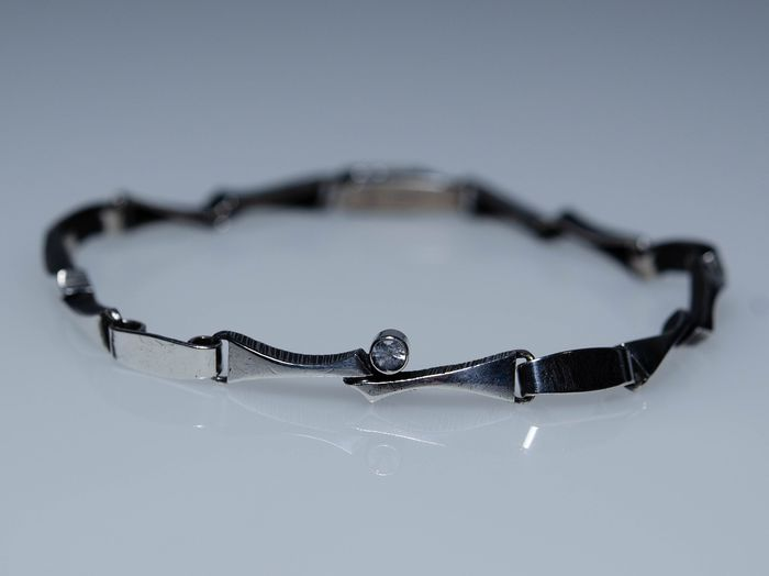 925 Silver - Bracelet with rock crystal - Karl Laine (Sten & Laine), Finland