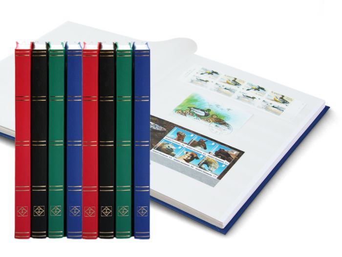 Leuchtturm - 8 stock books with 16 white pages