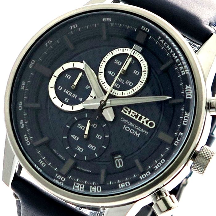 Seiko - Neo Sports Chronograph Men's Watch, Japanese Cal. 8T63  Blue Metallic - Homme - 2019