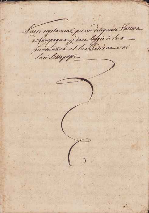 Manuscript; Regulations for a Diligent Country Factor and Employees - 1823