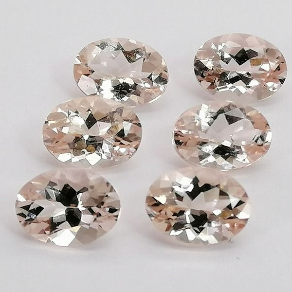 6 pcs  Morganite - 4.57 ct