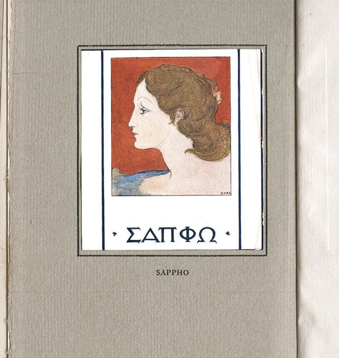 Sappho / Ernest Collings  - Sappho: The Queen of Song  - 1911