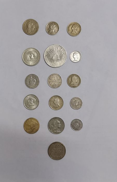 Monde - Lot various coins 1870/1989 (16 pieces)