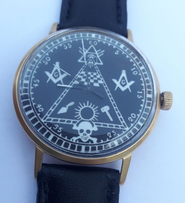 "Poljot International - DeLuxe ultra-slim ""Masonic"" Cal. 2209.  - Men - 1970-1979"